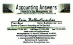Accounting Answers Tax Specialist